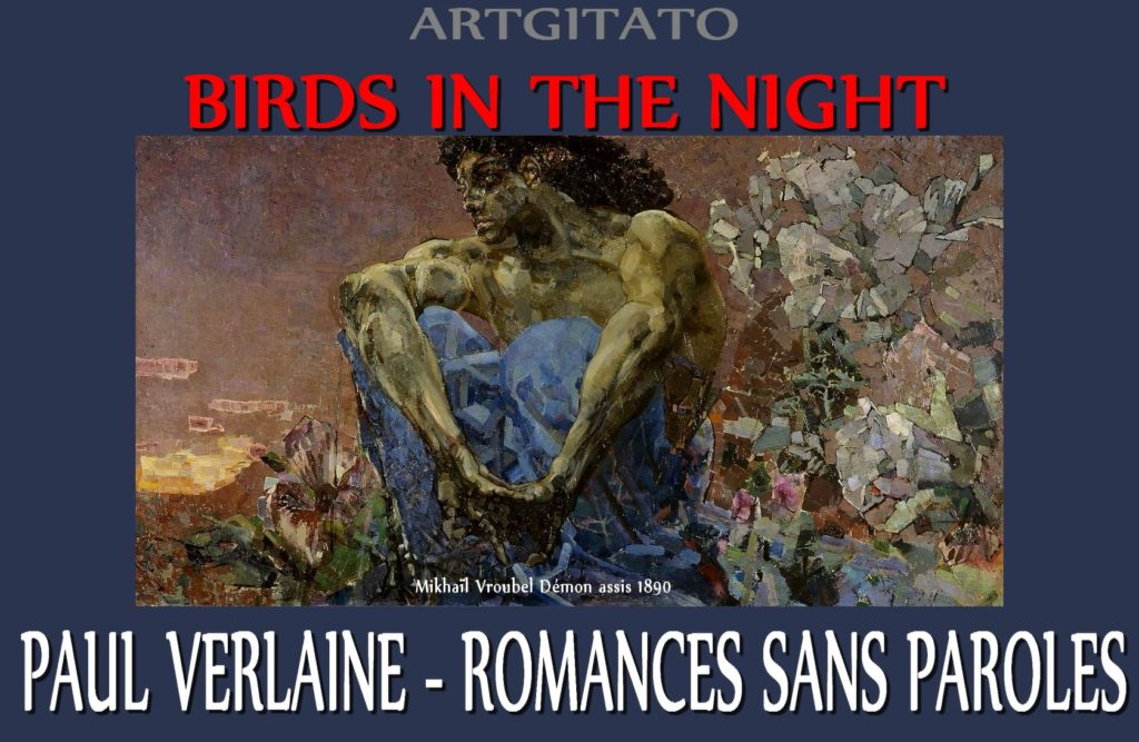 Birds in the night Romances sans paroles Paul Verlaine Mikhaïl Vroubel Démon assis 1890