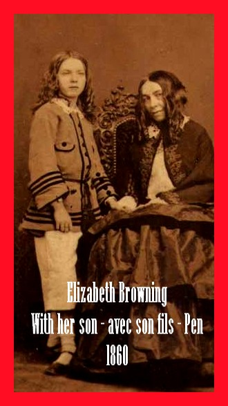 Elizabeth Barrett Browning with her son Pen avec son fils 1860