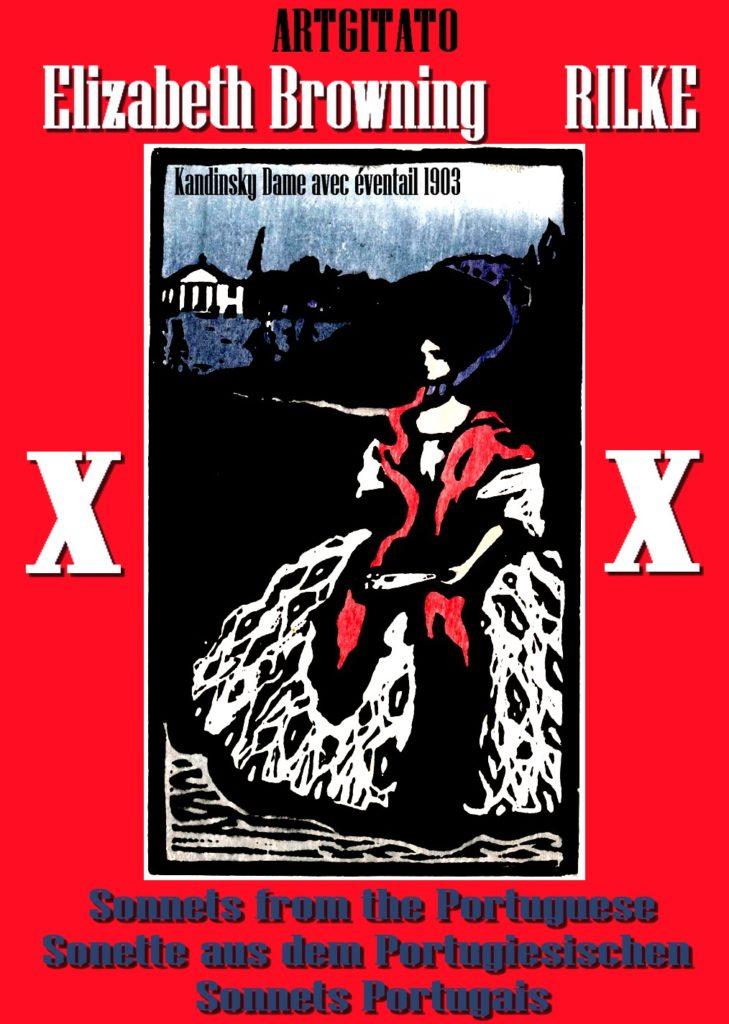 Elizabeth Browning Sonnets Portugais Rainer Maria Rilke Kandinsky Dame mit Fächer Femme avec un éventail 1903