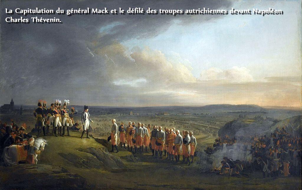 La Capitulation du général Mack et le défilé des troupes autrichiennes devant Napoléon Charles Thévenin
