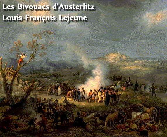 Les Bivouacs d'Austerlitz par Louis-François Lejeune