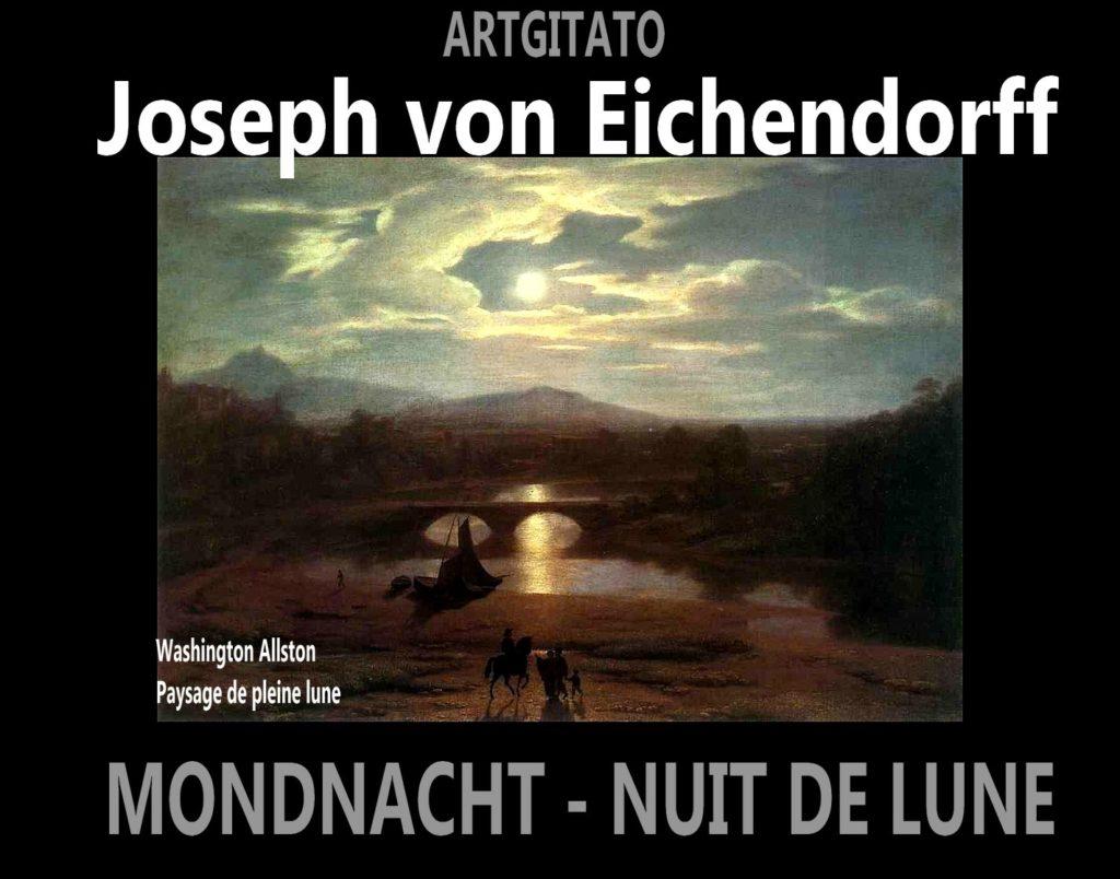 Mondnacht Nuit de Lune 1835 Poème de Joseph von Eichendorff Artgitato Washington Allston Paysage de pleine lune