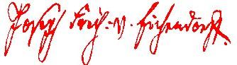 Signature de Joseph von Eichendorff