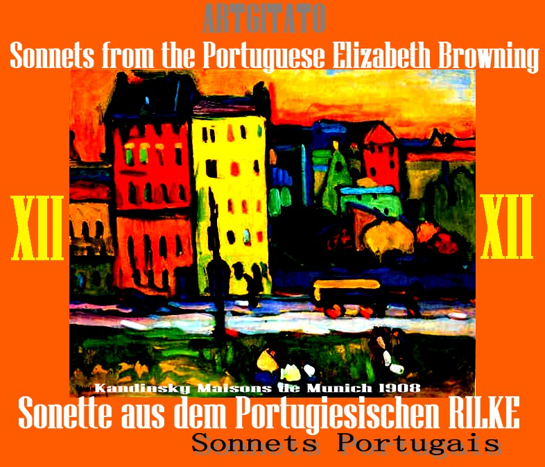 Sonette aus dem Portugiesischen Rilke Elizabeth Browning Artgitato Vassily Kandinsky 1908 Houses in Munich Maisons de Munich