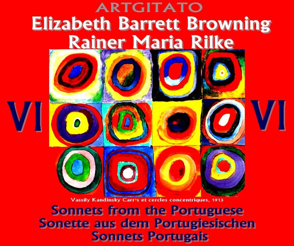 Sonnets Portugais Elizabeth Barrett Browning Rainer Maria Rilke Artgitato Vassily Kandinsky 1913 Carrés et Cercles Concentriques