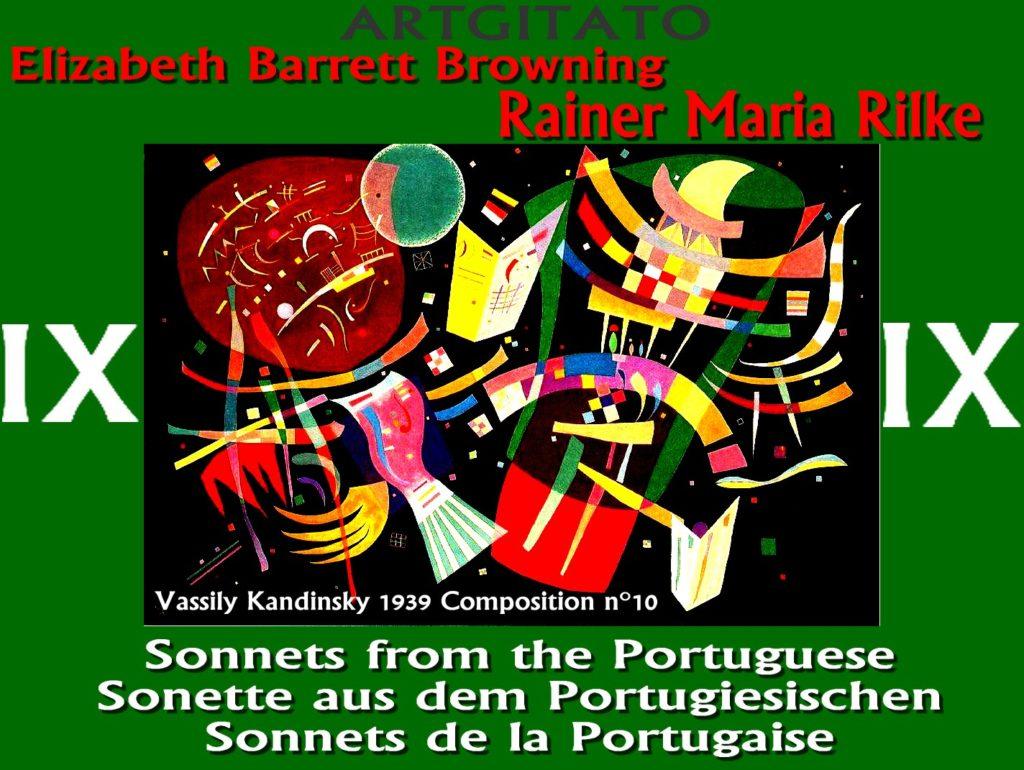 Sonnets de la Portugaise IX Elizabeth Barrett Browning Rainer Maria Rilke Artgitato Vassily Kandinsky 1939 Composition n10
