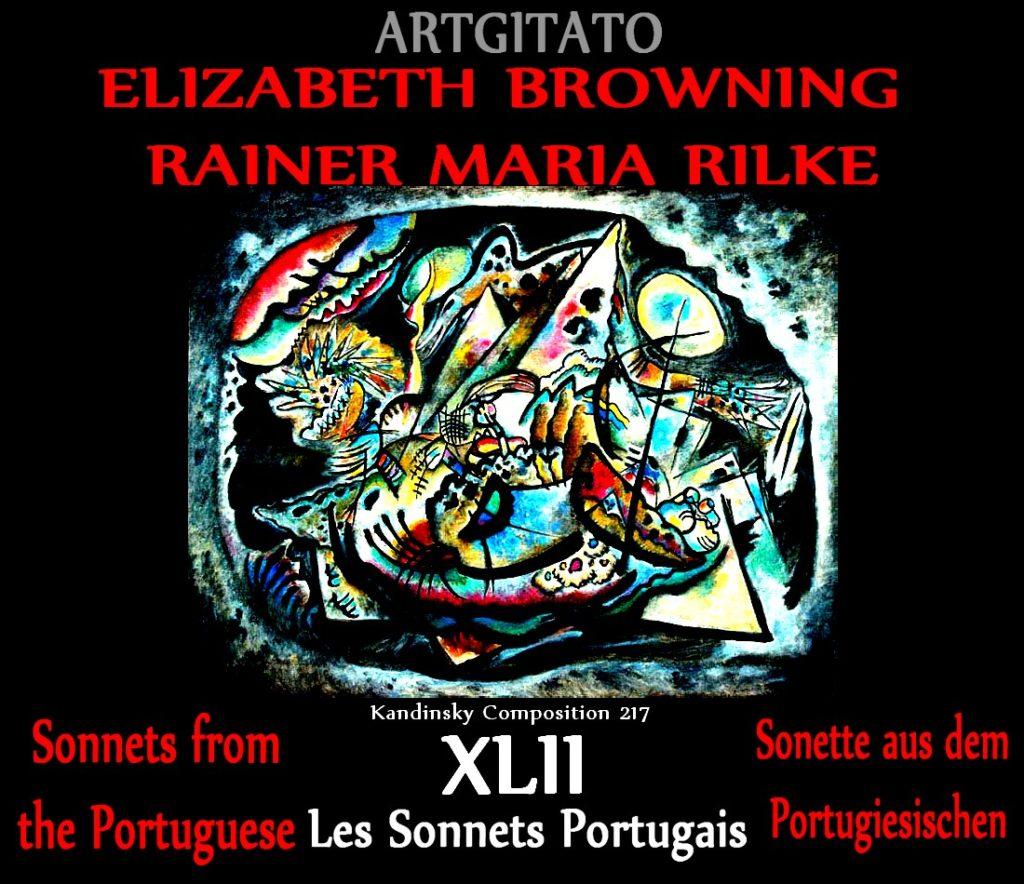 Sonnets from the Portuguese Elizabeth Browning 42 Sonnets Portugais - Rainer Maria Rilke Artgitato Vassily Kandinsky Composition n° 217