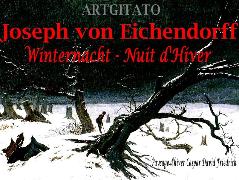 Winternacht Nuit d'hiver Joseph von Eichendorff Artgitato Paysage d'hiver Caspar David Friedrich