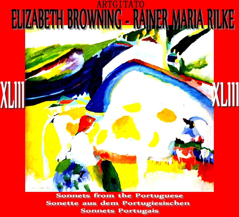sonette aus dem portugiesischen Rilke Elizabeth Barrett Browning Artgitato Vassily Kandinsky 1910 the Cow La Vache