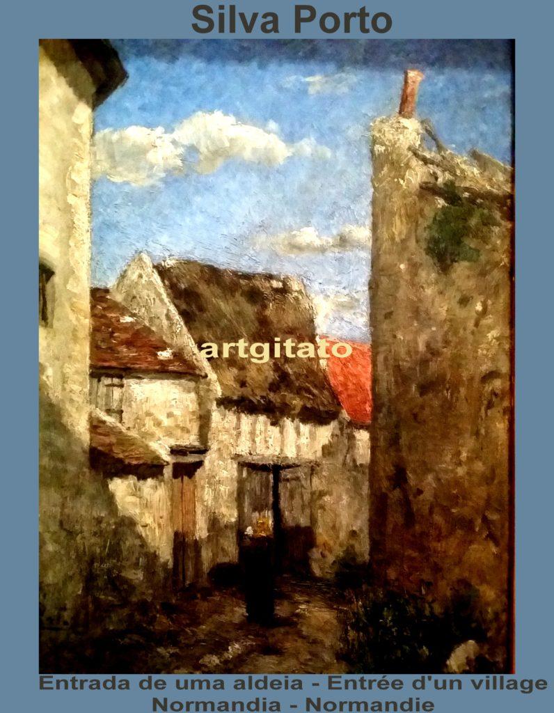 silva-porto-entrada-de-uma-aldeia-entree-dun-village-normandia-normandie-artgitato