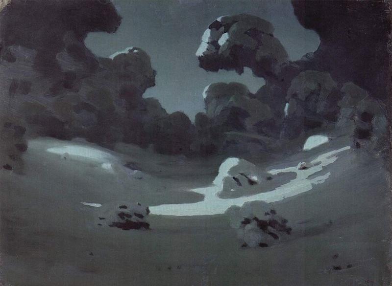 arkhip-kouindji-clair-de-lune-dans-une-foret-en-hiver-1898-1908
