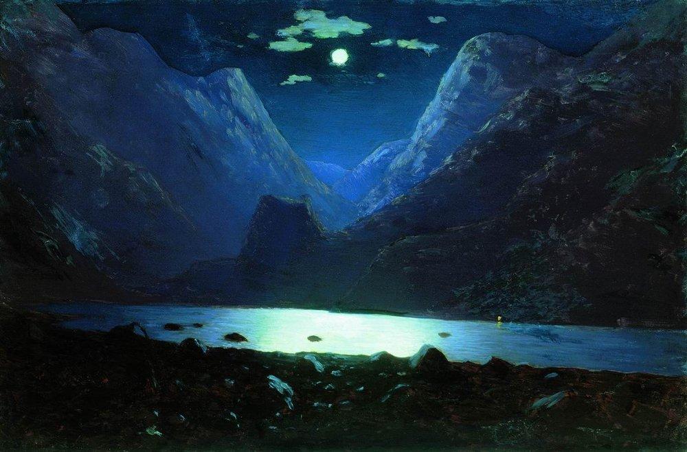 Photo Jacky Lavauzelle arkhip-kouindji-nuit-de-lune-les-gorges-daryal-1890-1895