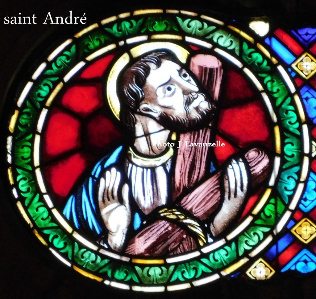 Saint André Sé de Lisboa Cathédrale de Lisbonne Vitrail Détail