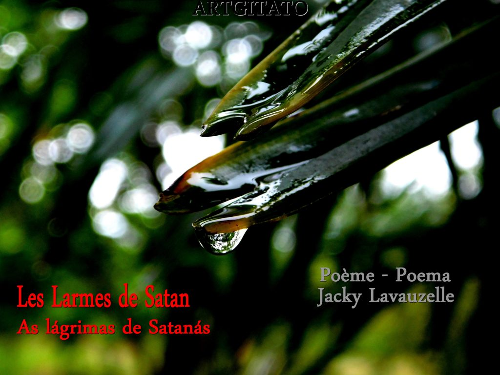 As lágrimas de Satanás Poema Jacky Lavauzelle