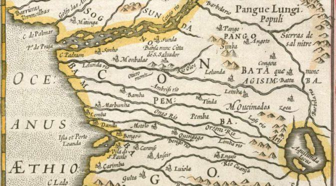 LE FLEUVE ZAÏRE ET LE ROYAUME DU CONGO -OS LUSIADAS V-13 – LES LUSIADES – LUIS DE CAMOES – Ali o mui grande reino está de Congo